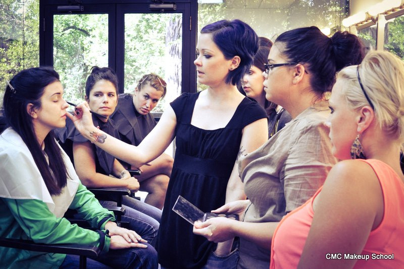Behind the Scenes photo - Teaching a Makeup Class at CMC Makeup School